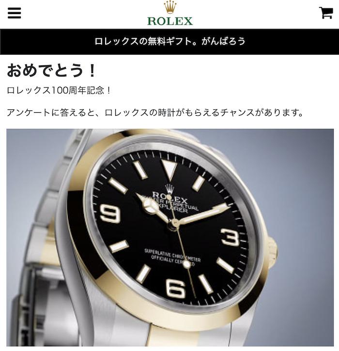 【ロレックス100周年記念】画像1